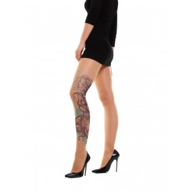 Колготки No isolation с имитацией тату в виде связанной девушки