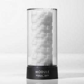 Белый 3D мастурбатор MODULE